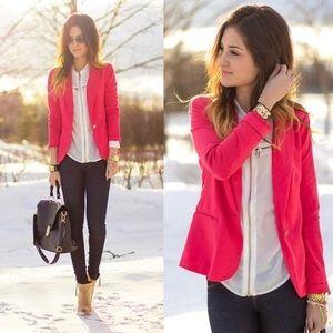Zara hot pink blazer jacket suit coat